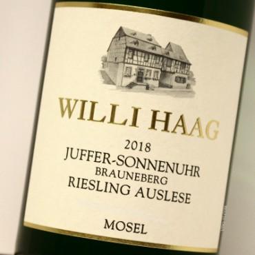 Willi Haag 2018 GOLDKAPSEL Juffer-Sonnenuhr Brauneberg Riesling Auslese