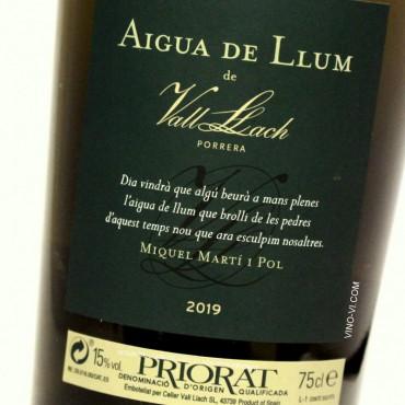 Aigua de Llum de Vall Llach 2019
