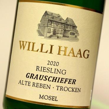 """Willi Haag 2020 Grauschiefer """"Alte Reben"""" Trocken"""