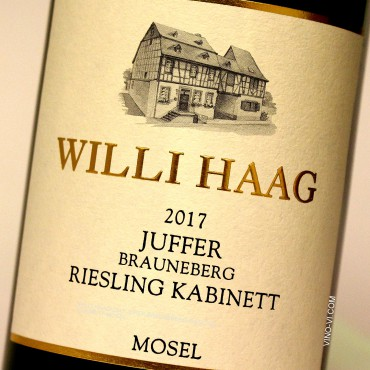 Willi Haag 2017 Juffer Brauneberg Riesling Kabinett