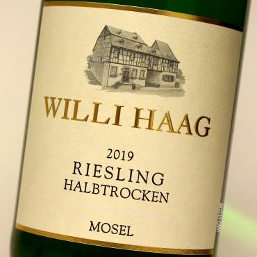 Willi Haag 2019 Riesling Halbtrocken