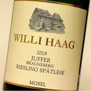 Willi Haag 2019 Juffer Brauneberg Riesling Spätlese