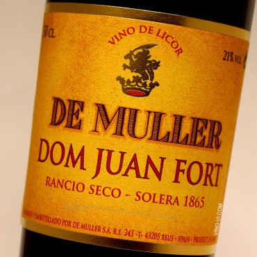 De Muller Dom Juan Fort Rancio Seco Solera 1865 - 50 cl