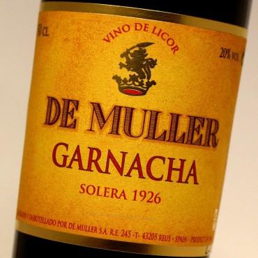 De Muller Garnacha Solera 1926 - 50 cl