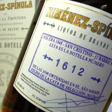 Brandy Ximénez-Spínola Tres Mil Botellas